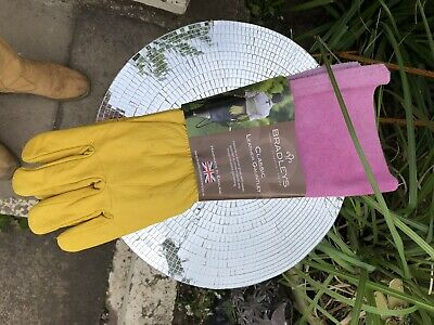 Gardening Gauntlets Classic Leather Made In Shropshire UK