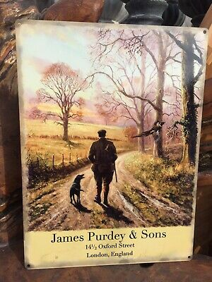 James Purdey & Sons Oxford Street Tin Sign
