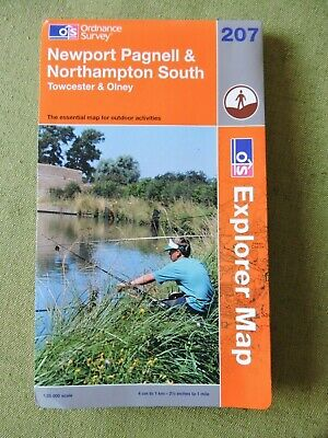 Ordnance Survey Explorer Map 207 Newport Pagnell