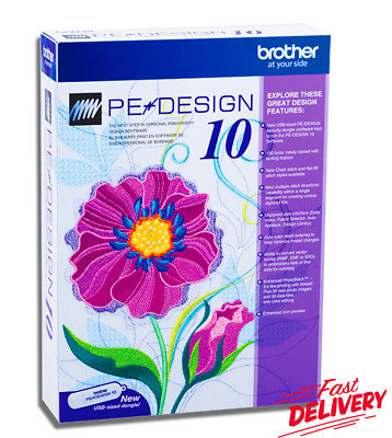 Brother PE Design 10 Embroidery Full Software 2019 & Free Gifts | INSTANT DLVRY