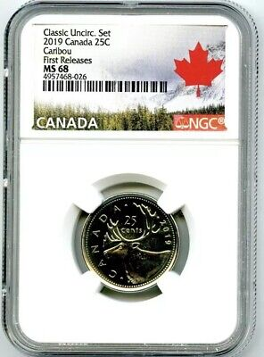 2019 Canada Classic 25 Cent Quarter Ngc Ms68 First Releases Rare