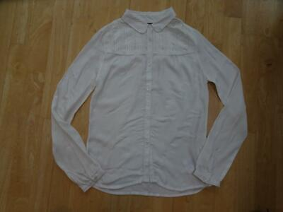 TOMMY HILFIGER girls beige pleat lace front blouse shirt top AGE 12 YEARS