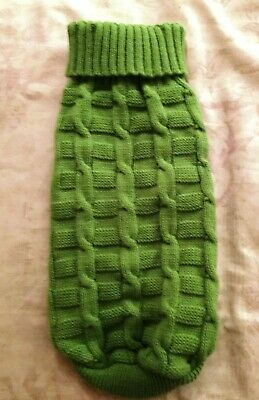 """Cairn Terrier Rescue Knitted Woolly Dog Coat Length 12"""" Width 14"""" Unstretched"""
