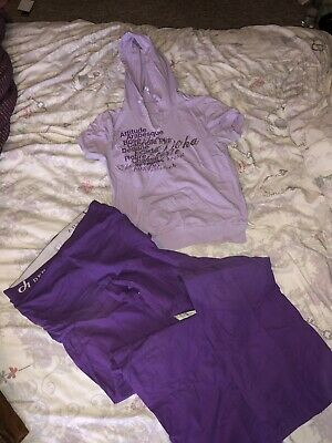 Co Ord Deha Girls Size Uk 6/8 Joggers And Top Tracksuit