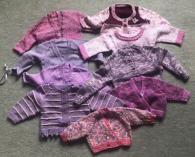 9 Hand Knitted Toddler Items.