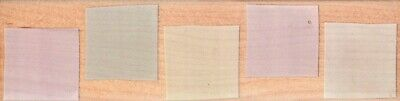Hero Arts ~ ROW OF FIVE BACKGROUND ~ Wood Mounted Rubber Stamp Squares Blocks