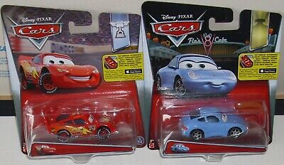 DISNEY PIXAR CARS LOTTO LIGHTNING McQUEEN + SALLY - MATTEL DIECAST 1/55