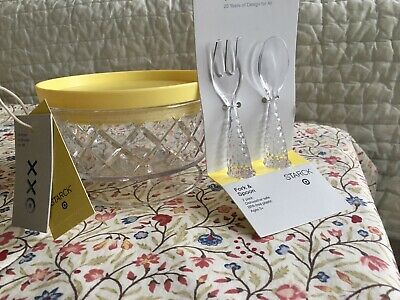 Philippe Starck Target Bowl  + Plastic Fork & spoon Set. Sold Out! BPA Free!