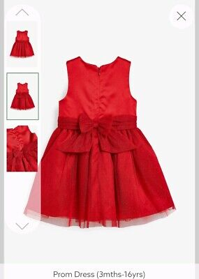 Next Beautiful Baby/ Toddler Girls Dress Age 2-3 Christmas Dress Outfit