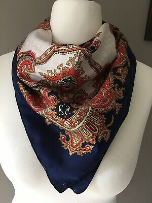 Vintage Ladies Paisley Design Print Neck Scarf Shawl Boho