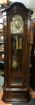 Mahogany 8 Day Triple Chime Moon Phase Grandfather Clock, Delivery Arranged