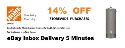 ONE 1× Home Depot 14% OFF ,Water heater coupon Instore ONLY- Very -fast _5min--