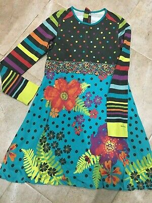 Girls Catimini colorful Dress / Jersey Cotton / Age 9-11 years