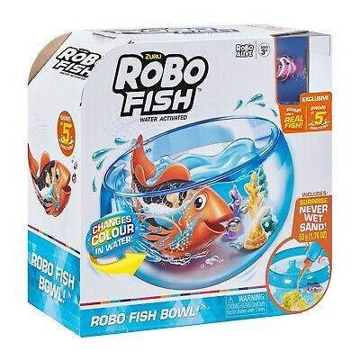Robo Alive Robotic Pets Playset - Clown Fish or Turtle - Electronic Pet - New
