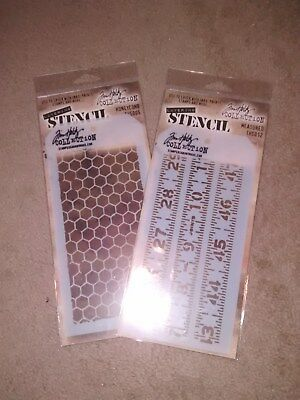 Stencils set of Two HOLTZ New Honeycomb & Ruler