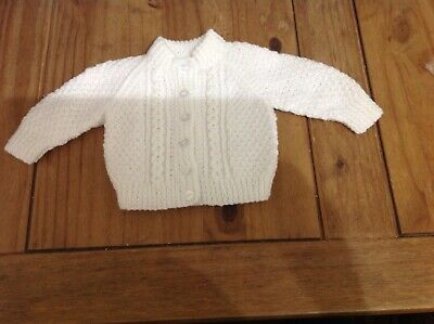 Hand Knitted Baby Cardigans 0-3 Months