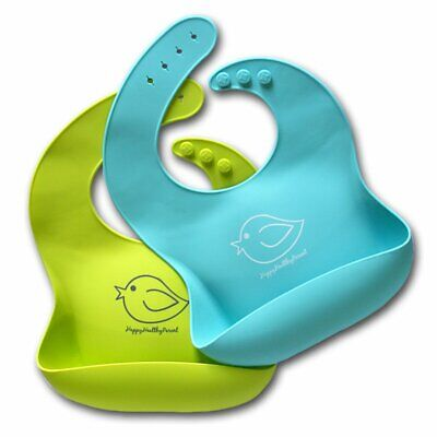 Silicone Baby Bibs Easily Wipe Clean - Comfortable Soft Waterproof Bib No stain!