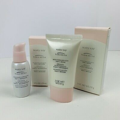 Mary Kay Timewise Microdermabrasion Set Step 1 Refine & Step 2 Replenish NIB