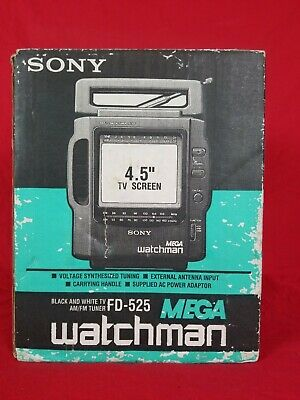 Sony Mega Watchman Portable TV  FD-525 - Open Box!  Tested!!!!
