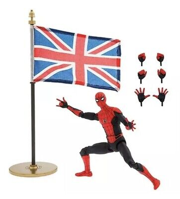 "Marvel Select 7"" Disney Store Exclusive Far From Home Spider-Man Flag"