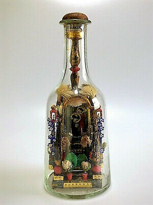 Circa 200 year old Folk Art Religious Shrine or Altar in a Bottle Whimsey Whimsy