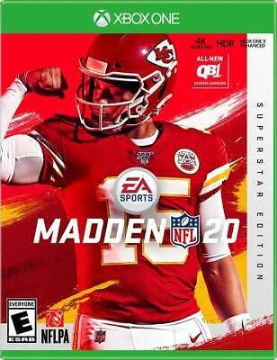 Madden NFL 20 - Superstar Edition (Microsoft XBOX One, 2019) NEW and SEALED