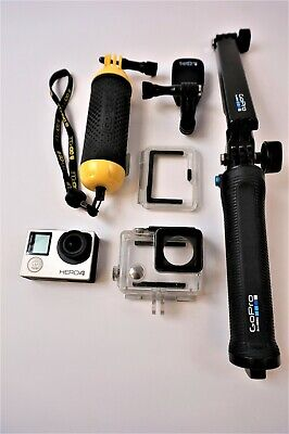 GoPro HERO4 Action Camera - Silver with some Accessories