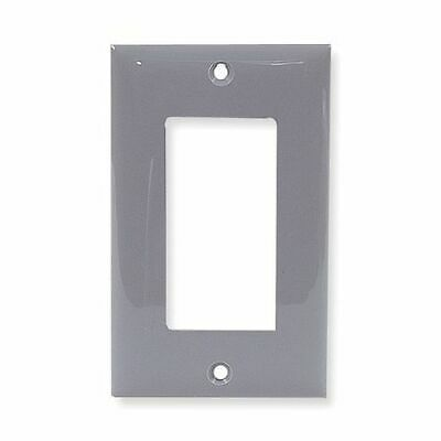 HUBBELL WIRING DEVICE-KELLEMS NP26GY Rocker Wall Plate,1 Gang,Gray