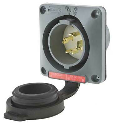 HUBBELL WIRING DEVICE-KELLEMS HBL2435SW 20A Watertight Flanged Twist-Lock Inlet