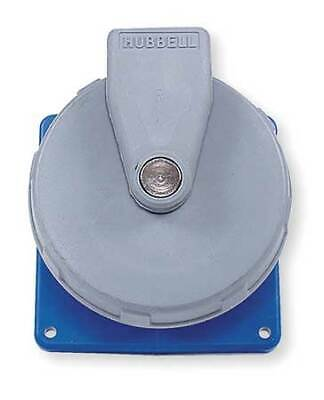 HUBBELL WIRING DEVICE-KELLEMS HBL330R6W IEC Pin and Sleeve Receptacle,30A,250V