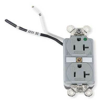 HUBBELL WIRING DEVICE-KELLEMS HBL8300SGGYA 20A Duplex Receptacle 125VAC 5-20R GY