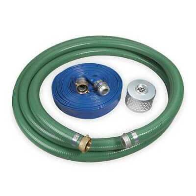 ZORO SELECT 1ZNC4 Pump Hose Kit,4 In ID,Includes Strainer
