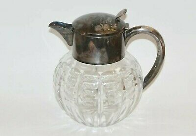 Mussbach Art Deco Carafe Crystal cut Silver Plated Pitcher Est. P 170- to 230