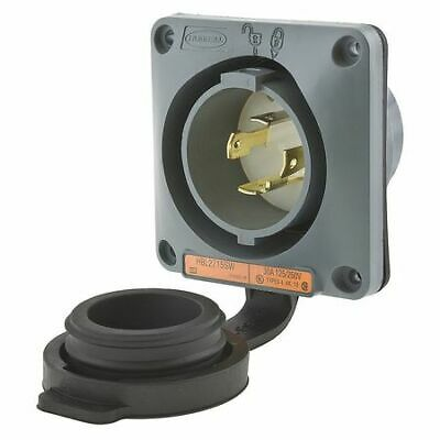 HUBBELL WIRING DEVICE-KELLEMS HBL2715SW 30A Watertight Flanged Twist-Lock Inlet