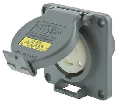 HUBBELL WIRING DEVICE-KELLEMS HBL2610SW 30A Watertight Twist-Lock Receptacle 2P