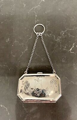 Antique English Hallmarked Sterling Silver Coin Purse - 1916