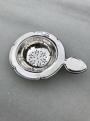 Antique English Sterling Silver Tea Strainer - 1917
