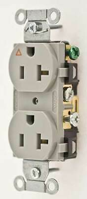 HUBBELL WIRING DEVICE-KELLEMS IG5352GY 20A Duplex Receptacle 125VAC 5-20R GY