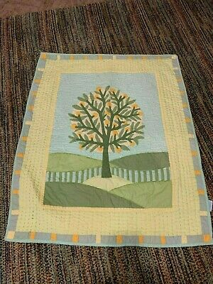 Fun Land Of Nod Crate & Barrel Orange Tree Baby Toddler Quilt