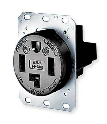 HUBBELL WIRING DEVICE-KELLEMS HBL9430A 30A 4W Single Receptacle 125/250VAC