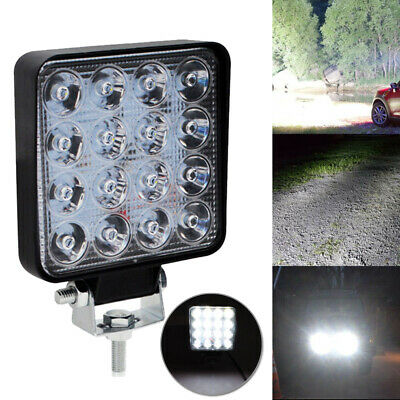 1x 48W LED Light Work Square Lamp Driving Fog For Offroad SUV ATV Car Boat Truck