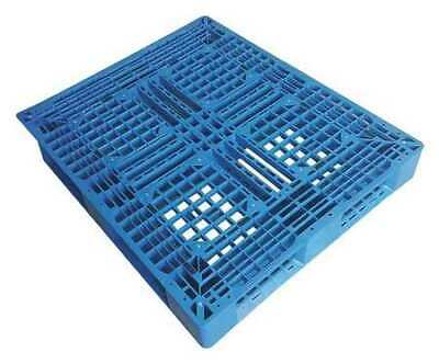 ZORO SELECT 1MCR8 Plastic Pallet,48 L X 40 In W,Blue