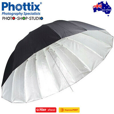 "A*Phottix 50"" (130cm) Para-Pro ESF Reflective Umbrella (Black Patterned Silver)*"