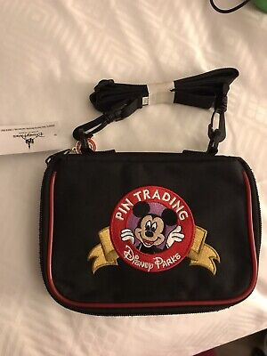 NWT Disney Parks Mickey Logo Pin Trading Bag New With Tag