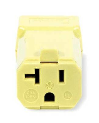 HUBBELL WIRING DEVICE-KELLEMS HBL5369VY Connector,5-20R,20A,125V