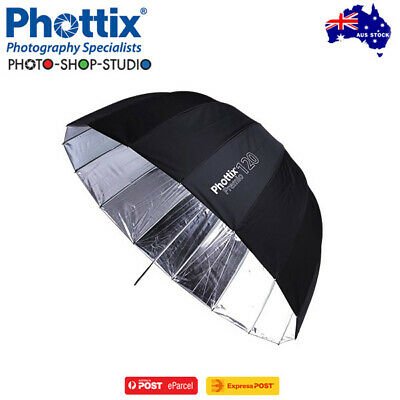 "AU*Phottix 47""(120cm) Premio Reflective Umbrella (Black & Silver)*CLEARANCE SALE"