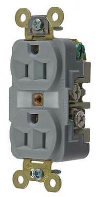 HUBBELL WIRING DEVICE-KELLEMS HBL5262GY 15A Duplex Receptacle 125VAC 5-15R GY