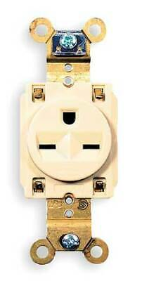 HUBBELL WIRING DEVICE-KELLEMS HBL5661I 15A Single Receptacle 250VAC 6-15R IV