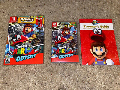 Super Mario Odyssey (Nintendo Switch, 2017) with Traveler's Guide
