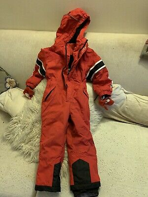 Red No Fear ski snow suit age 3-4 years